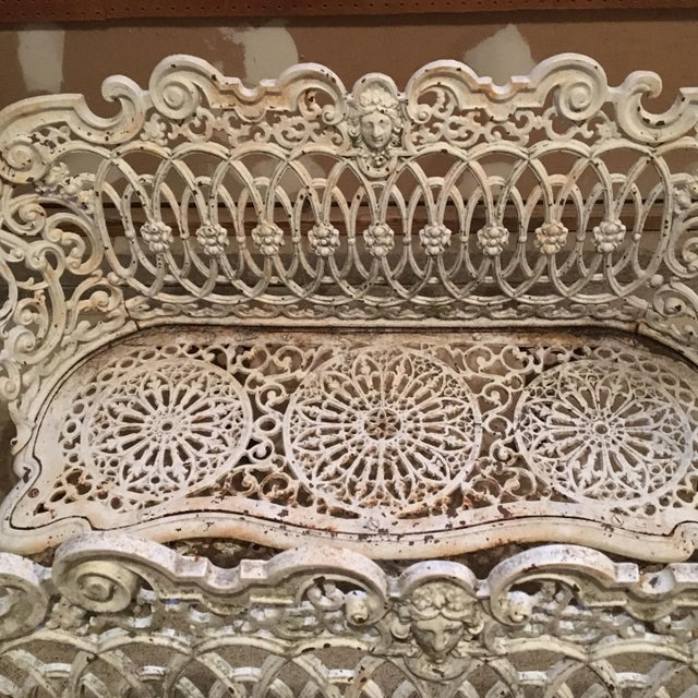 American Victorian Cast Iron Garden Benches - A Pair - Image 5 of 11