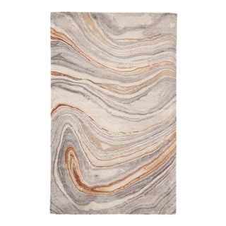 Jaipur Living Atha Handmade Abstract Copper/ Gray Area Rug - 5'x8' For Sale