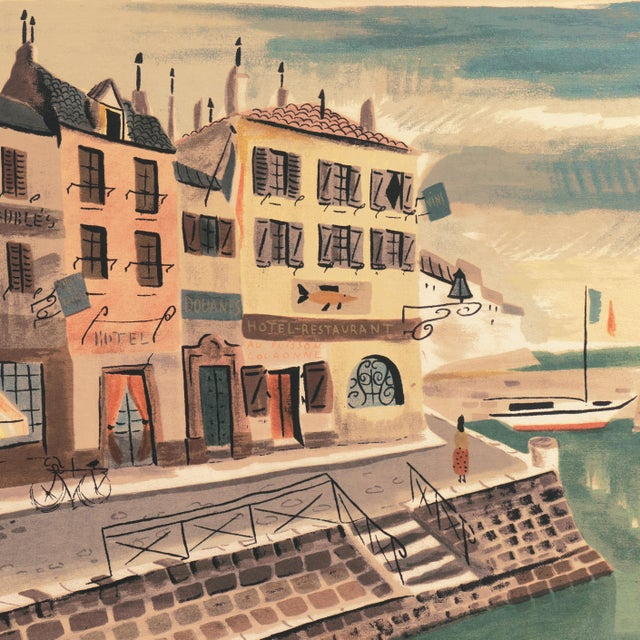 'Breton Village With Lighthouse' by Charles De Montfort, Mid-Century French Post-Impressionist For Sale In Monterey, CA - Image 6 of 8