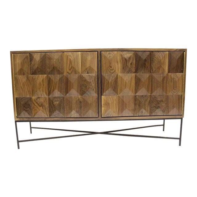 Modern Cubist Credenza With Metal Base on consoles and credenzas, made in usa modern credenzas, modern sideboards with sliding door, country style credenzas, industrial modern credenzas, post modern credenzas, modern sideboards and hutches,