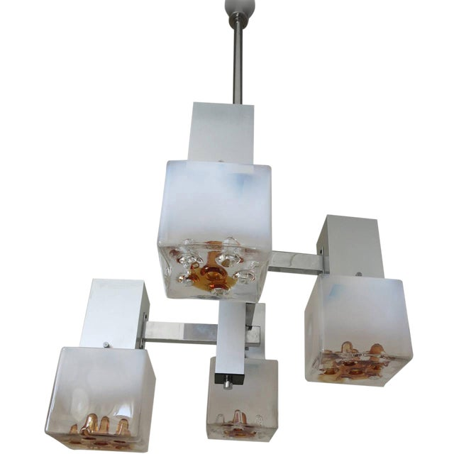 Cubes Pendant by Mazzega For Sale