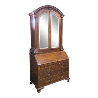 Vintage Antique Maitland-Smith Two Piece Secretary Desk