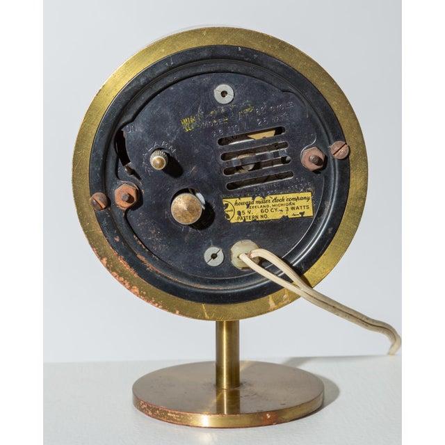 1950s George Nelson Model 4766 Brass Clock for Howard Miller For Sale - Image 5 of 8