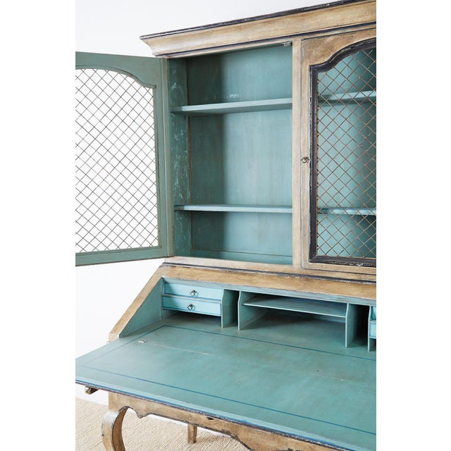 Swedish Gustavian Style Two-Part Secretaire Bookcase For Sale - Image 9 of 13