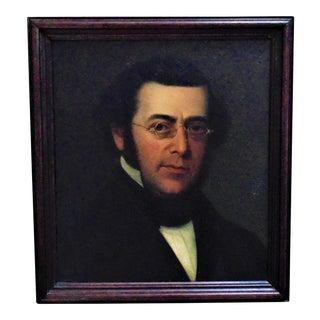 Late 19th Century Antique Portrait of a Victorian Gentleman Oil on Canvas Painting For Sale