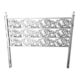Mid Century Modern Forged Metal Headboard For Sale