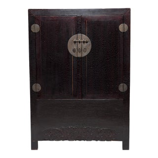 19th Century Chinese Crackle Lacquered Cabinet For Sale