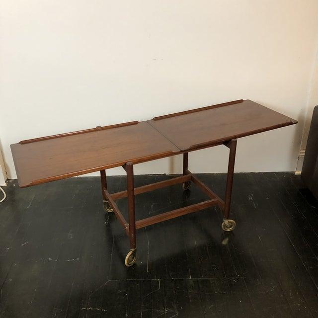 1960s Danish Teak Expanding Server/Bar Cart For Sale - Image 11 of 13
