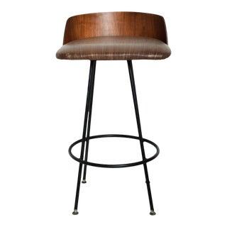 Mid Century Modern Walnut Bar Stool by Chet Beardsley For Sale