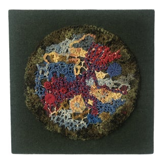 Mid 20th Century Modernist Abstract Textured Art Wall Hanging For Sale