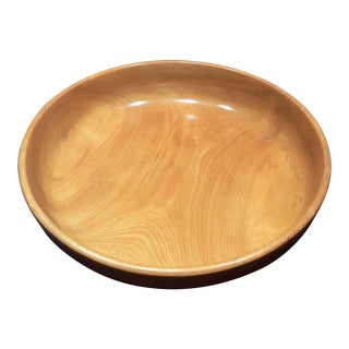 Large - Mid Century Wood Decor Bowl - Hand Made and Numbered by Keystoneware / Woodcraft