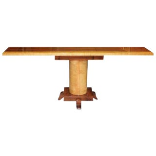 1940s Art Deco Exotic Macassar With Sycamore Console Table For Sale