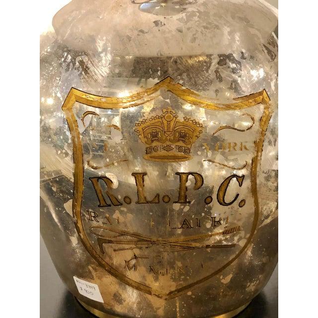1980s Ralph Lauren Mercury Glass Table Lamp For Sale - Image 5 of 12