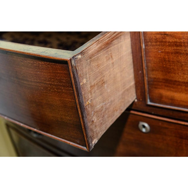 Mahogany Bow Front Chest For Sale - Image 4 of 10