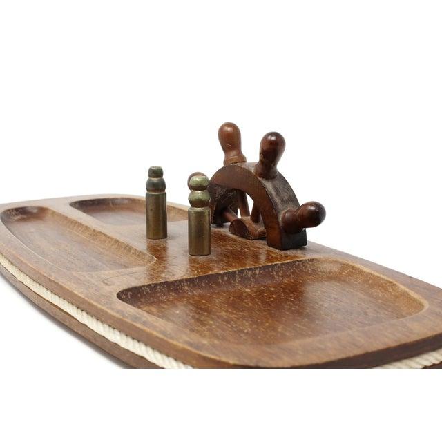 1970s Vintage Wood Nautical Dresser Valet For Sale - Image 5 of 11