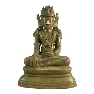 19th Century Antique Southeast Asian Bronze Buddhist Statue For Sale