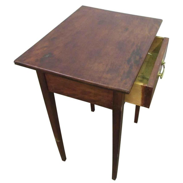 Single Drawer Wooden End Table For Sale - Image 5 of 8