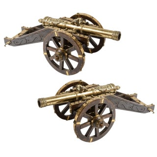 Pair of Miniature Brass Cannons