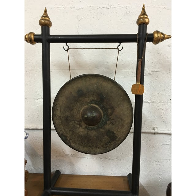 Vintage Chinese Bronze Gong Stand & Mallet - Image 4 of 10