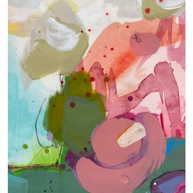 """""""You'd Love It Here"""" Contemporary Mixed-Media Painting on Paper by Gina Cochran For Sale - Image 4 of 5"""