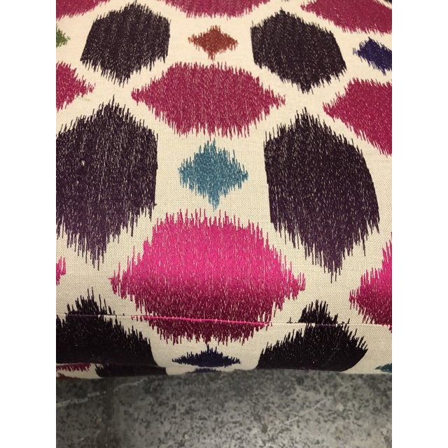 Modern Nathan Anthony Korz Chair by Tina Nicole + Kravet Fabric - a Pair For Sale - Image 3 of 13