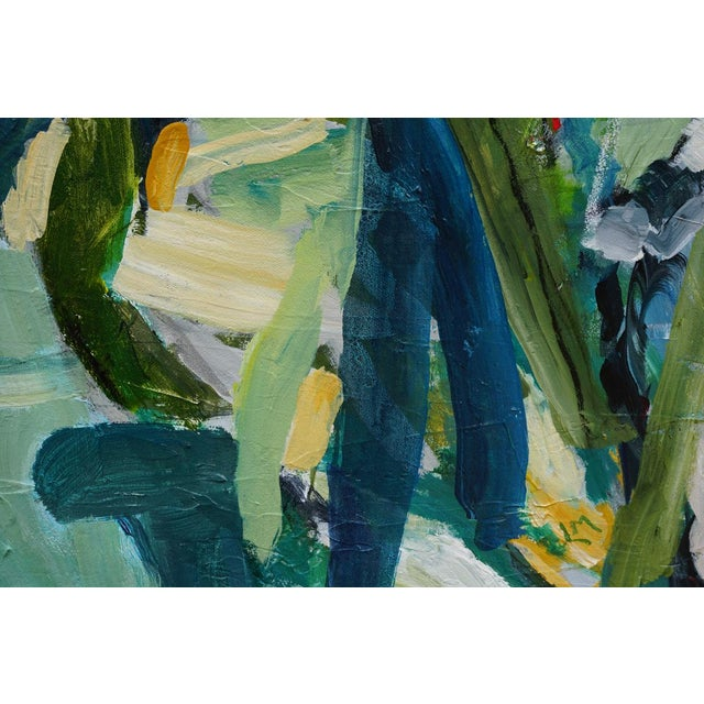 """Laurie MacMillan """"Jungle Fever"""" Abstract Botanical Painting For Sale In Los Angeles - Image 6 of 6"""