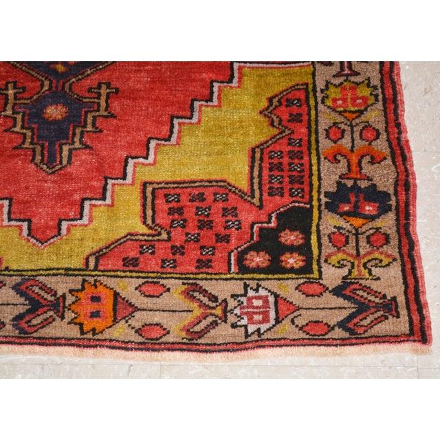 "1950s Vintage Turkish Rug,3'1""x4'2"" For Sale - Image 5 of 6"