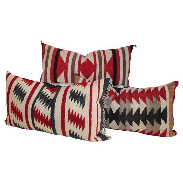 Navajo Saddle Blanket Bolster Pillows - Collection of 3 For Sale - Image 13 of 13