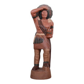 Vintage Cigar Store Indian Chief Statue For Sale