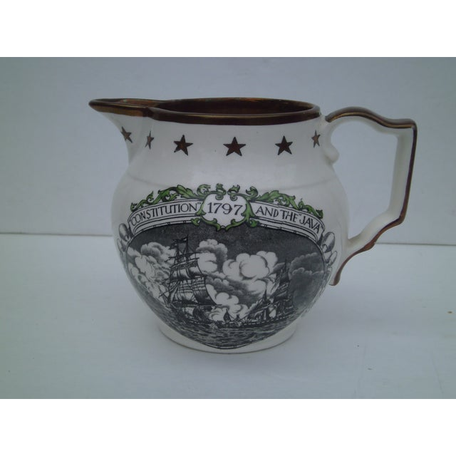 English Transferware & Copper Luster Pitcher - Image 9 of 10