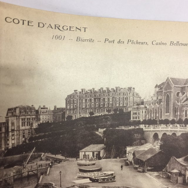 French Antique Cote d'Argent Panoramic Photo For Sale - Image 3 of 6