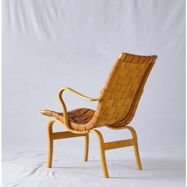 "Bruno Mathsson Leather ""EVA"" Lounge Chair - Image 6 of 10"