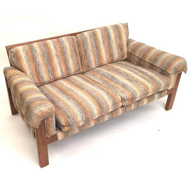 1970's Loveseat with Original Neutral Upholstery - Image 5 of 5