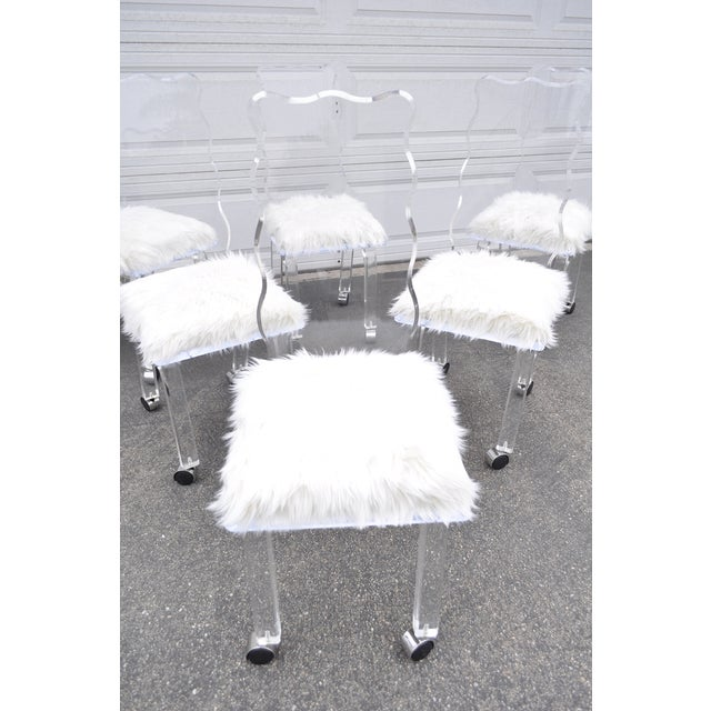 Mod Lucite Dining Chairs - Set of 6 - Image 3 of 8