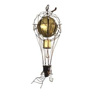 Vintage John Demont Brutalist Hot Air Balloon Jere Style Sculpture For Sale