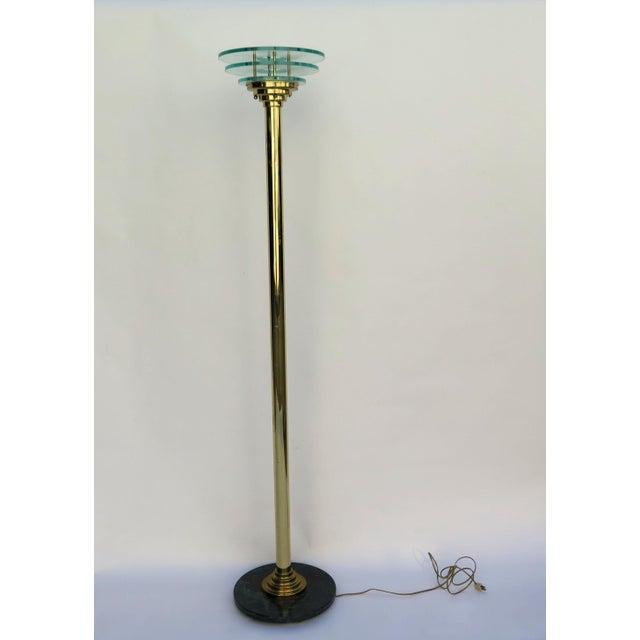 1980s Art Deco Revival Floor Lamp For Sale - Image 4 of 5