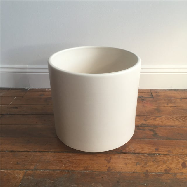 "13"" Gainey Ceramics ""AC-12"" planter with a matte white glaze. No chips or cracks. No hole drilled in bottom. Made in..."