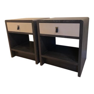 Contemporary Bungalow 5 Nicole 1-Drawer Side Tables - a Pair For Sale