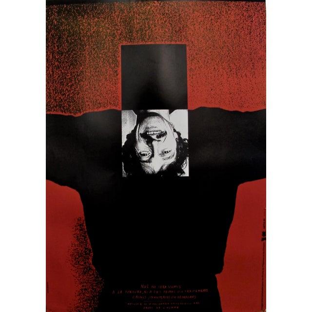 1989 Original Poster for Artis 89's Images Internationales Pour Les Droits De l'Homme Et Du Citoyen - Article 5 For Sale