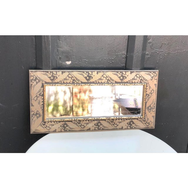 Mid-Century Modern Silver-Frame Rectangular Wall Mirror For Sale - Image 3 of 5