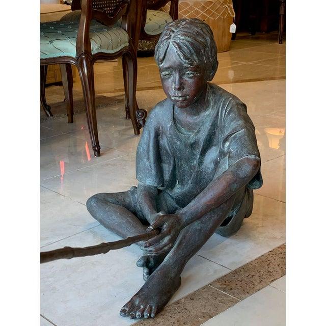 "American Susanne Vertel ""Dream Catcher"" Bronze Statue For Sale - Image 3 of 11"