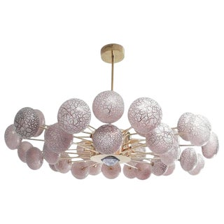 Crackled Globes Chandelier by Fabio Ltd For Sale
