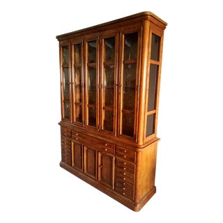 Wood Breakfront Cabinet