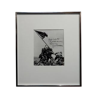 Joe Rosenthal -Raising of the Flag-1945 Iconic Silver Gelatin-Signed For Sale