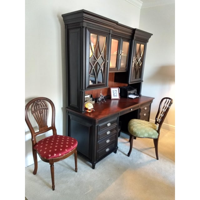 Home or Office Desk Credenza Hutch Combination - a Great Piece in Great Condition at a Great Price For Sale - Image 12 of 13