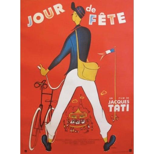 1940s Original 1949 French Jacques Tati Movie Poster, Jour De Fete For Sale - Image 5 of 5