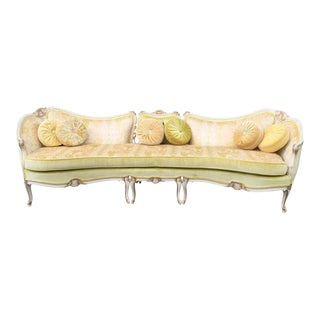 1960s Vintage Italian Steigers Baroque Style Sofa For Sale