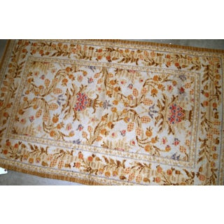 1920s, Handmade Antique Spanish Savonnerie Rug 3.2' X 5.3' Preview