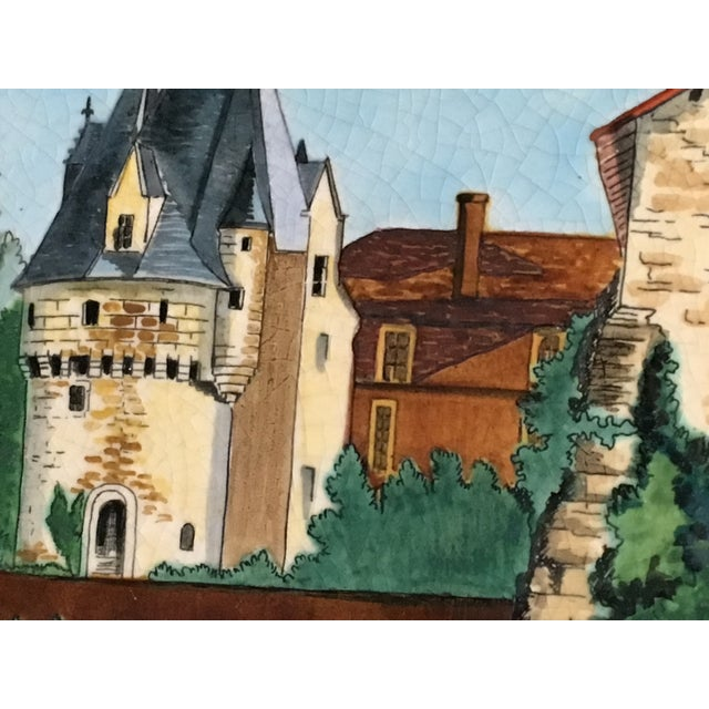 Lovely Decorative French Tile Hand Painted & Signed by Artist. Made by Longwy, France. Signed on front & back. Dimensions:...