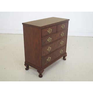 Baker George III Burl Walnut Bachelor Chest Preview